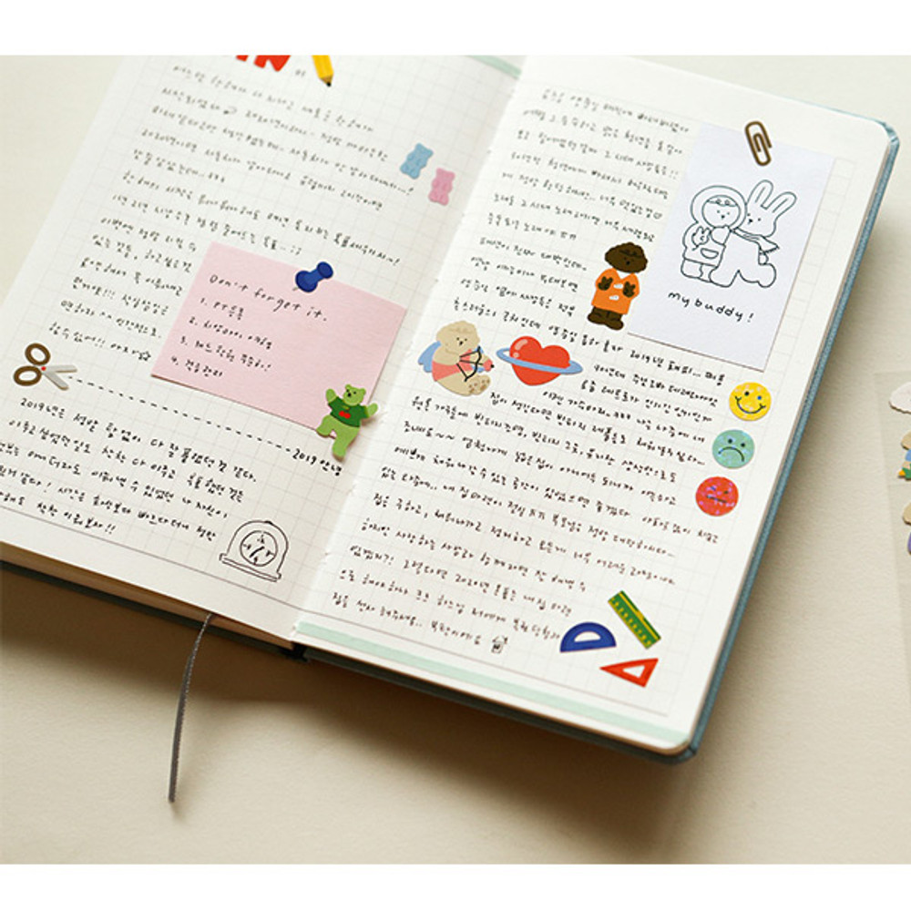 Usage example - Dailylike Stationery removable paper diary deco sticker seal