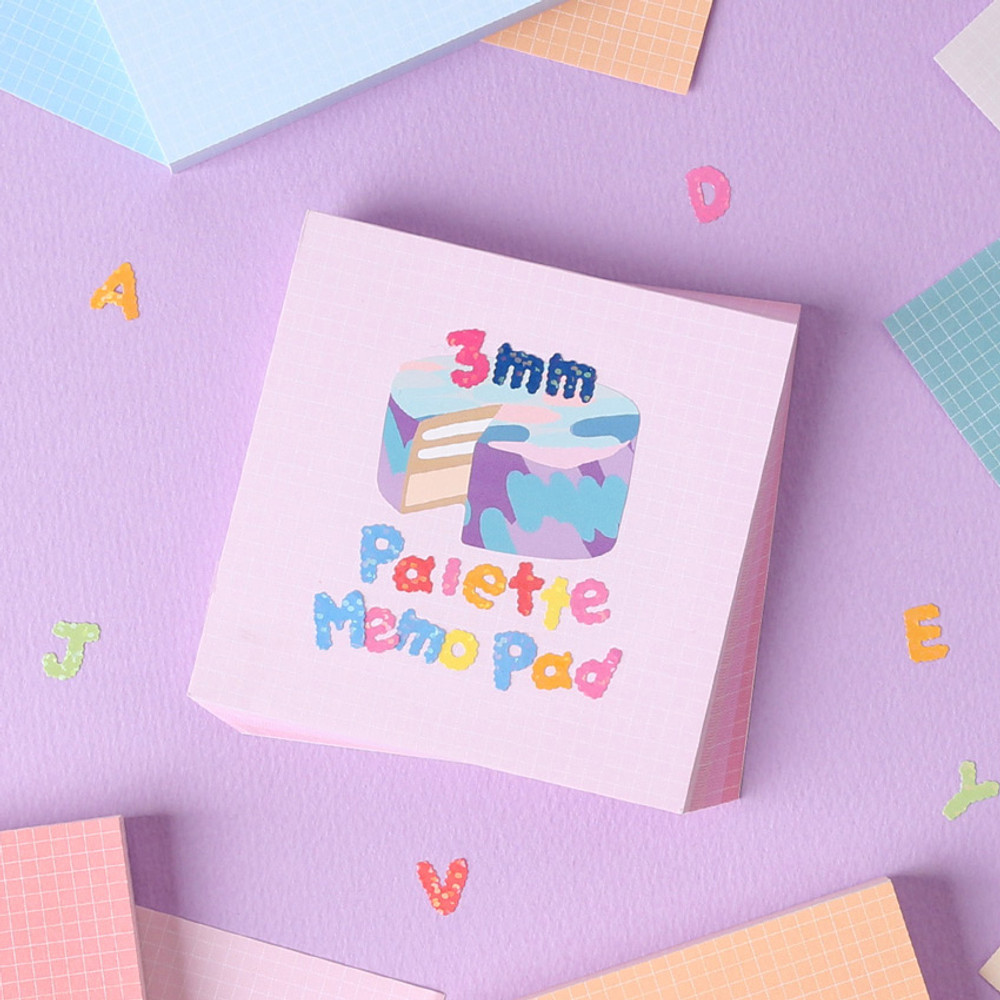 Wanna This Palette 3mm grid 4 designs memo notepad