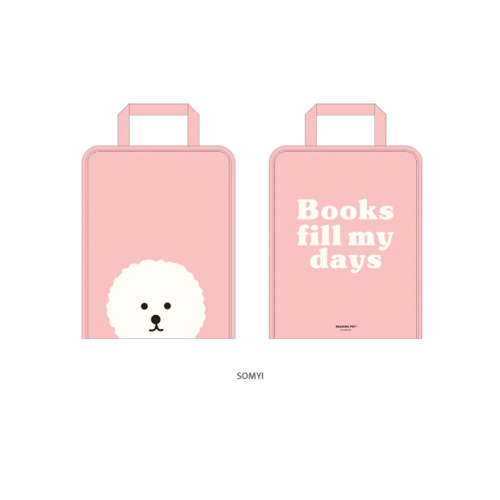 Somyi - Bookfriends Reading pet zip around file bag