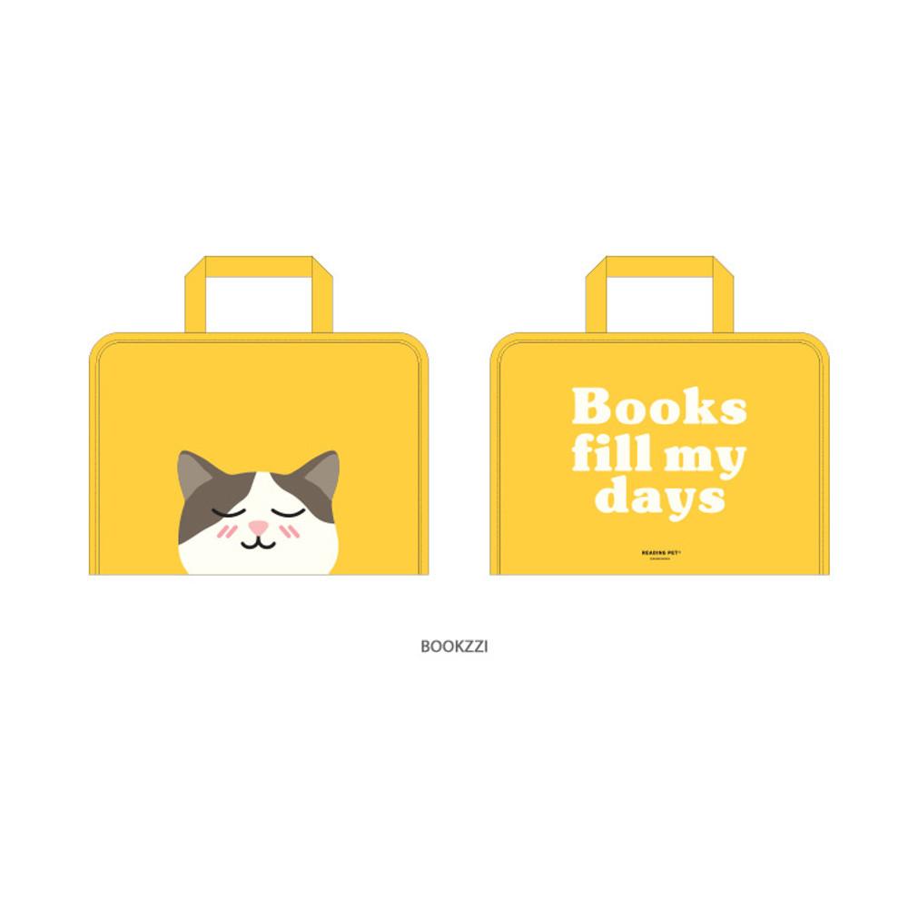 Bookzzi - Bookfriends Reading pet zip around file bag