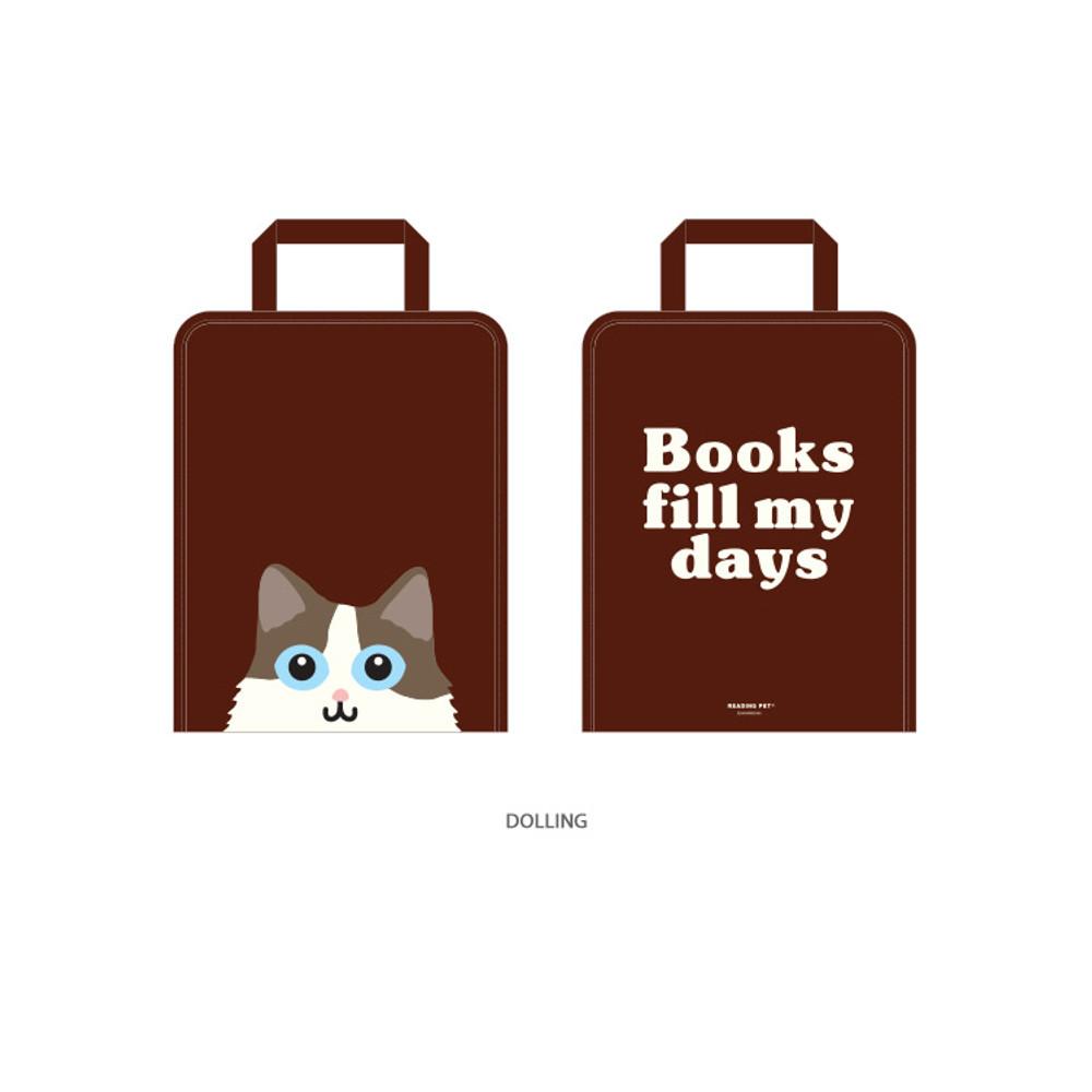 Dolling - Bookfriends Reading pet zip around file bag