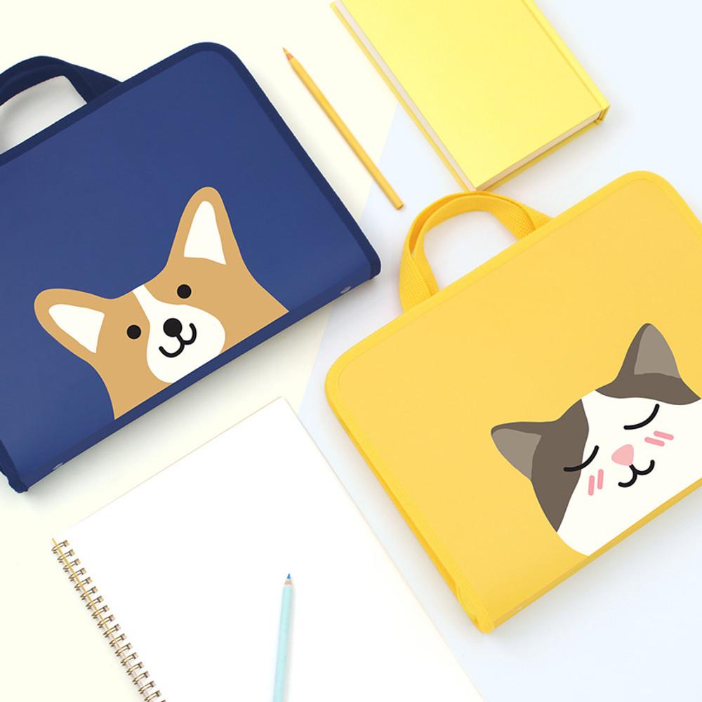 Bookfriends Reading pet zip around file bag