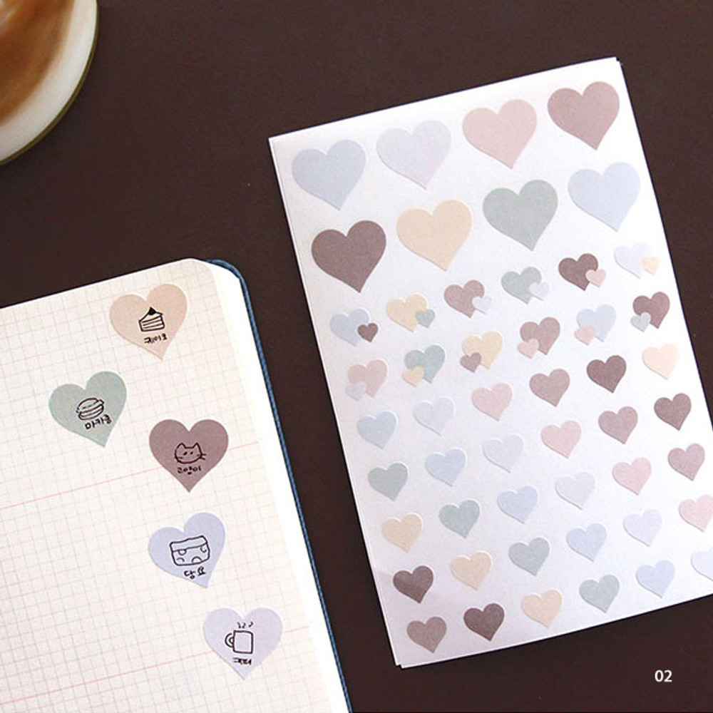 02 - PLEPLE Love in Life paper deco sticker 2 sheets