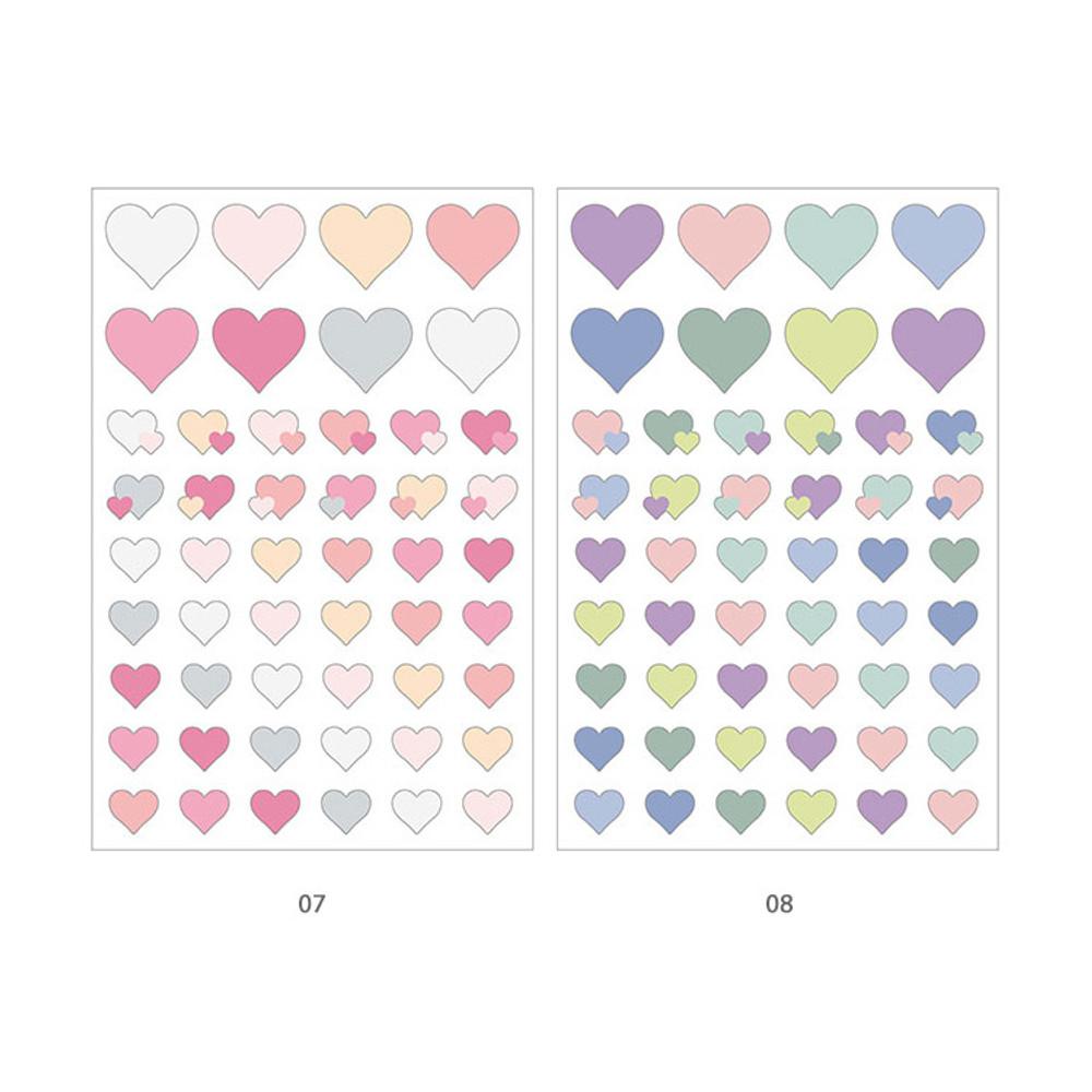 07, 08 - PLEPLE Love in Life paper deco sticker 2 sheets