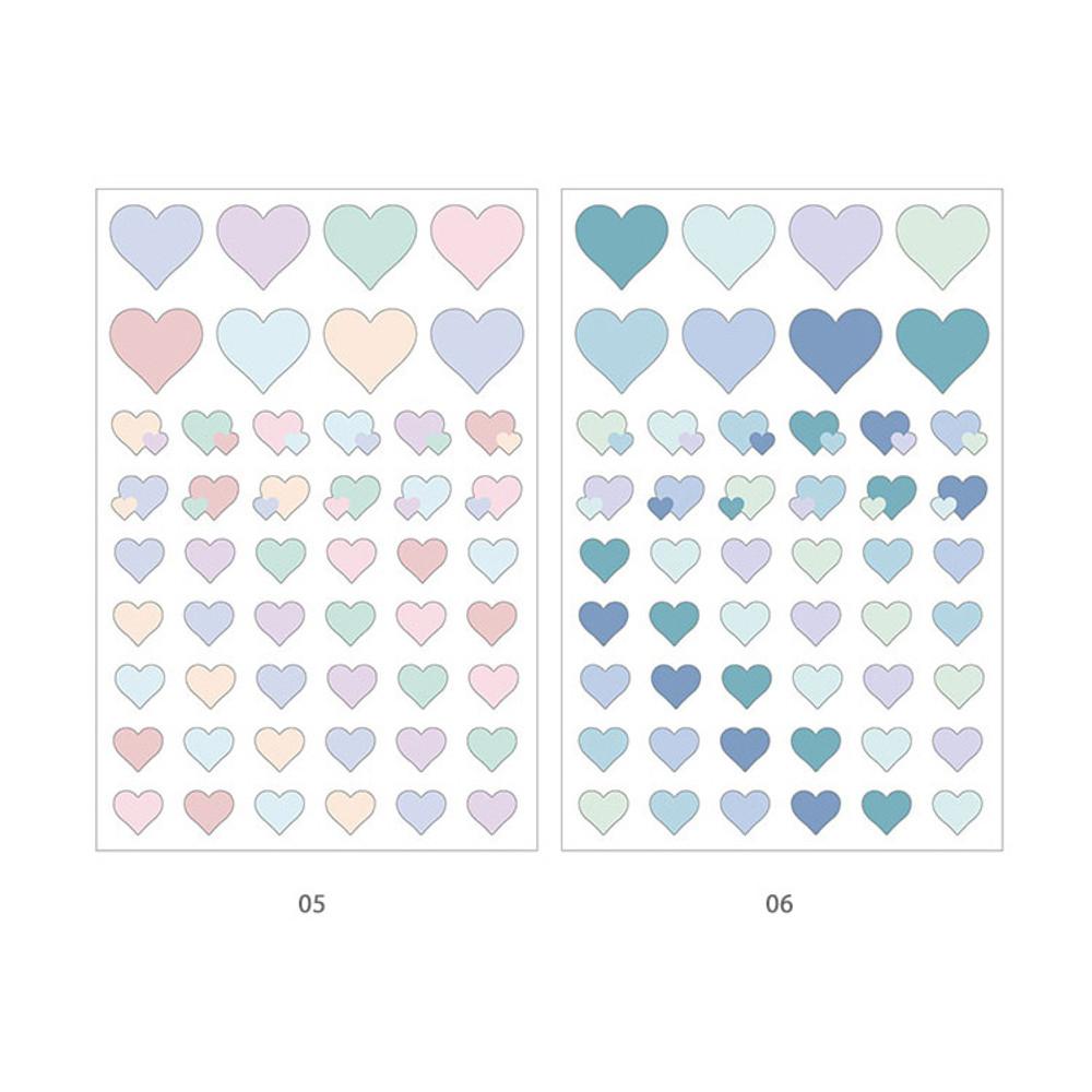 05, 06 - PLEPLE Love in Life paper deco sticker 2 sheets