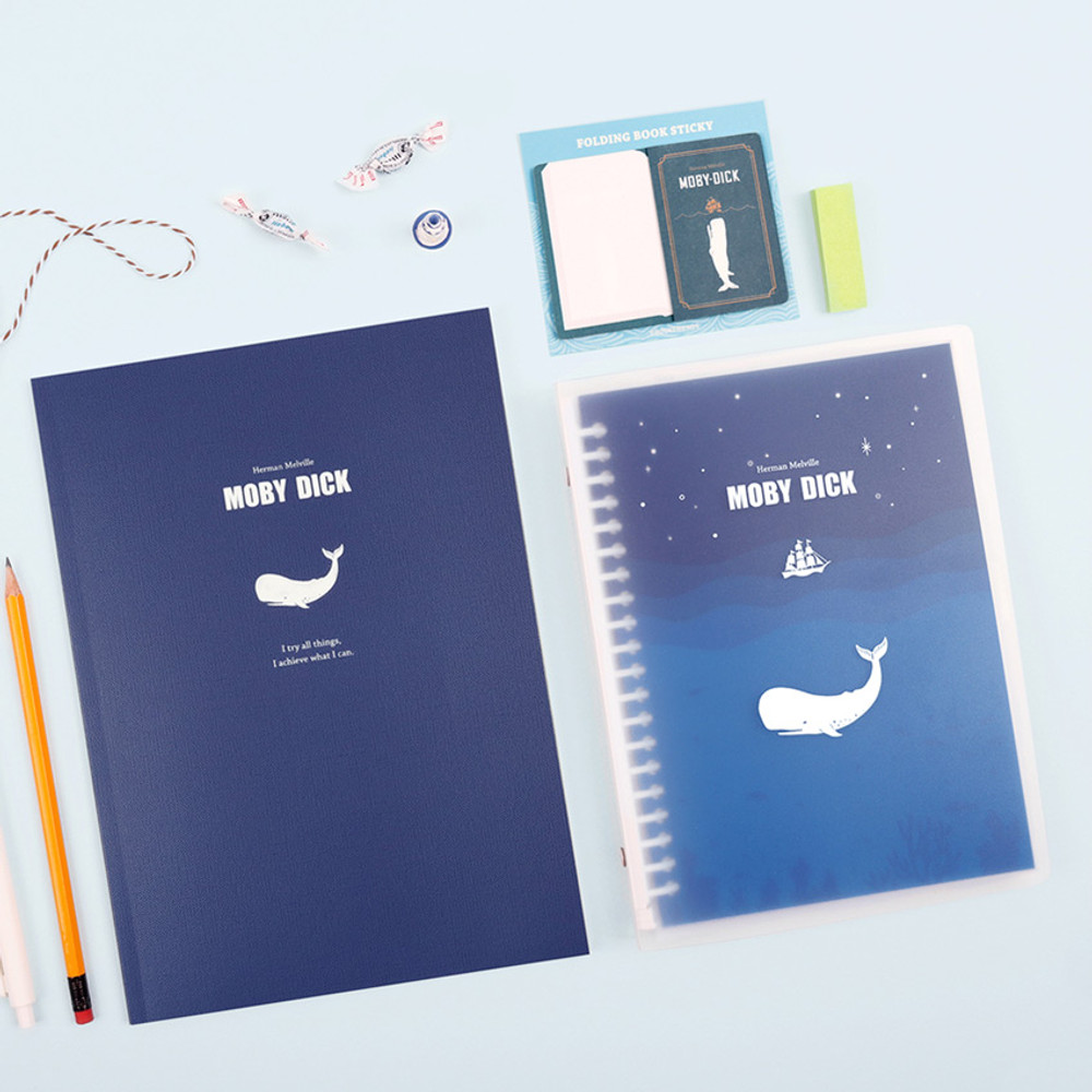 Moby dick - Bookfriends World literature A5 20 ring binder with 60 sheets