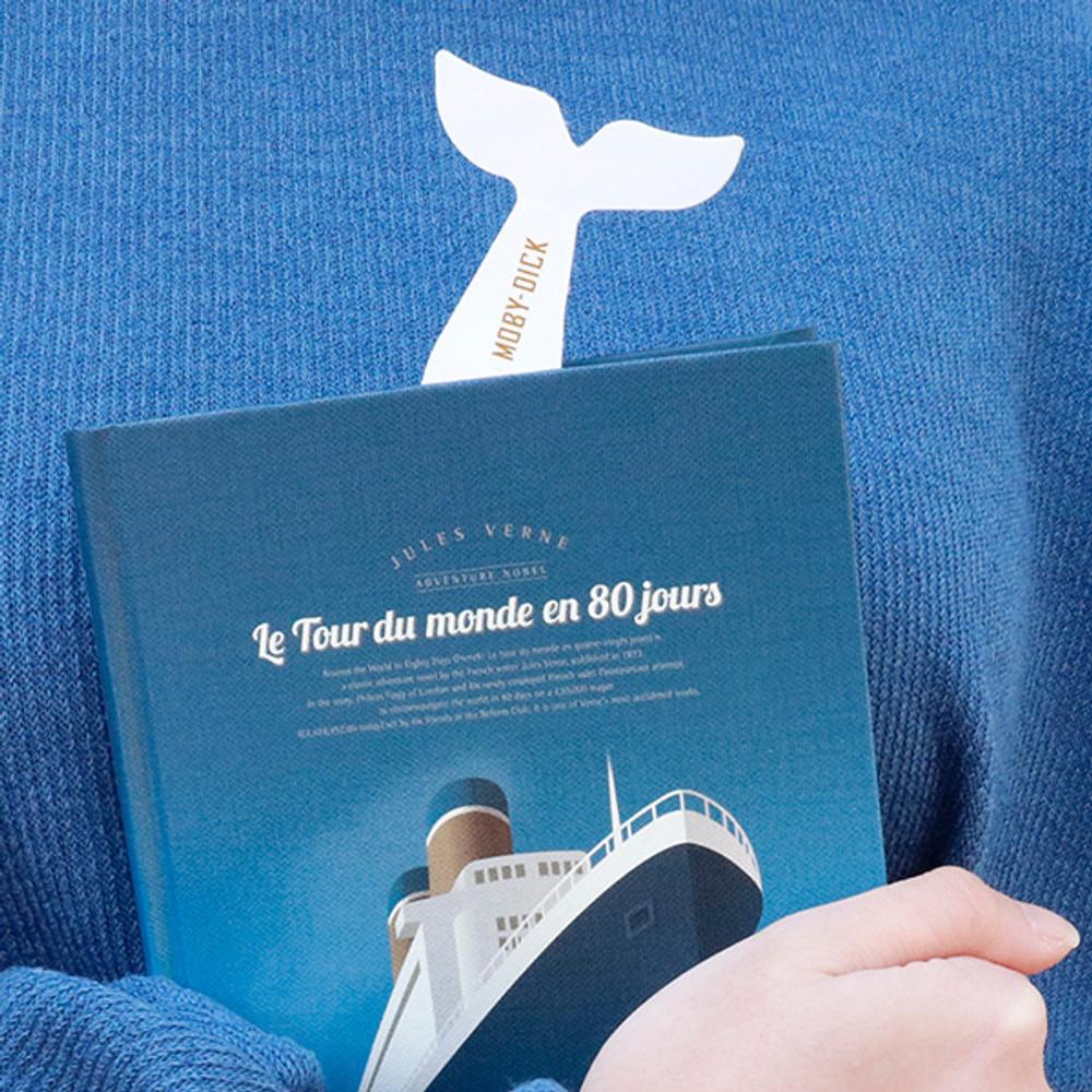 Moby Dick - Bookfriends World literature 0.8mm slim bookmark pen