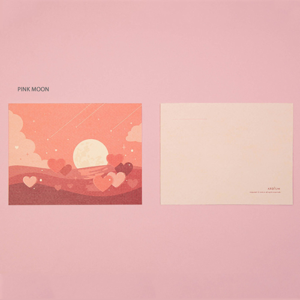 Pink Moon - Ardium The memory of the moon postcard