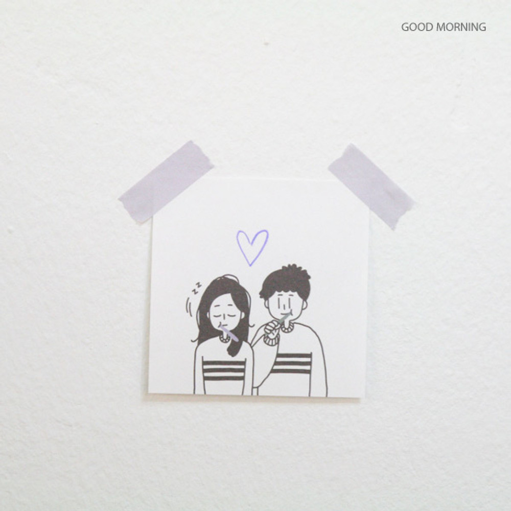 Good Morning - DESIGN GOMGOM My You illustration memo notepads
