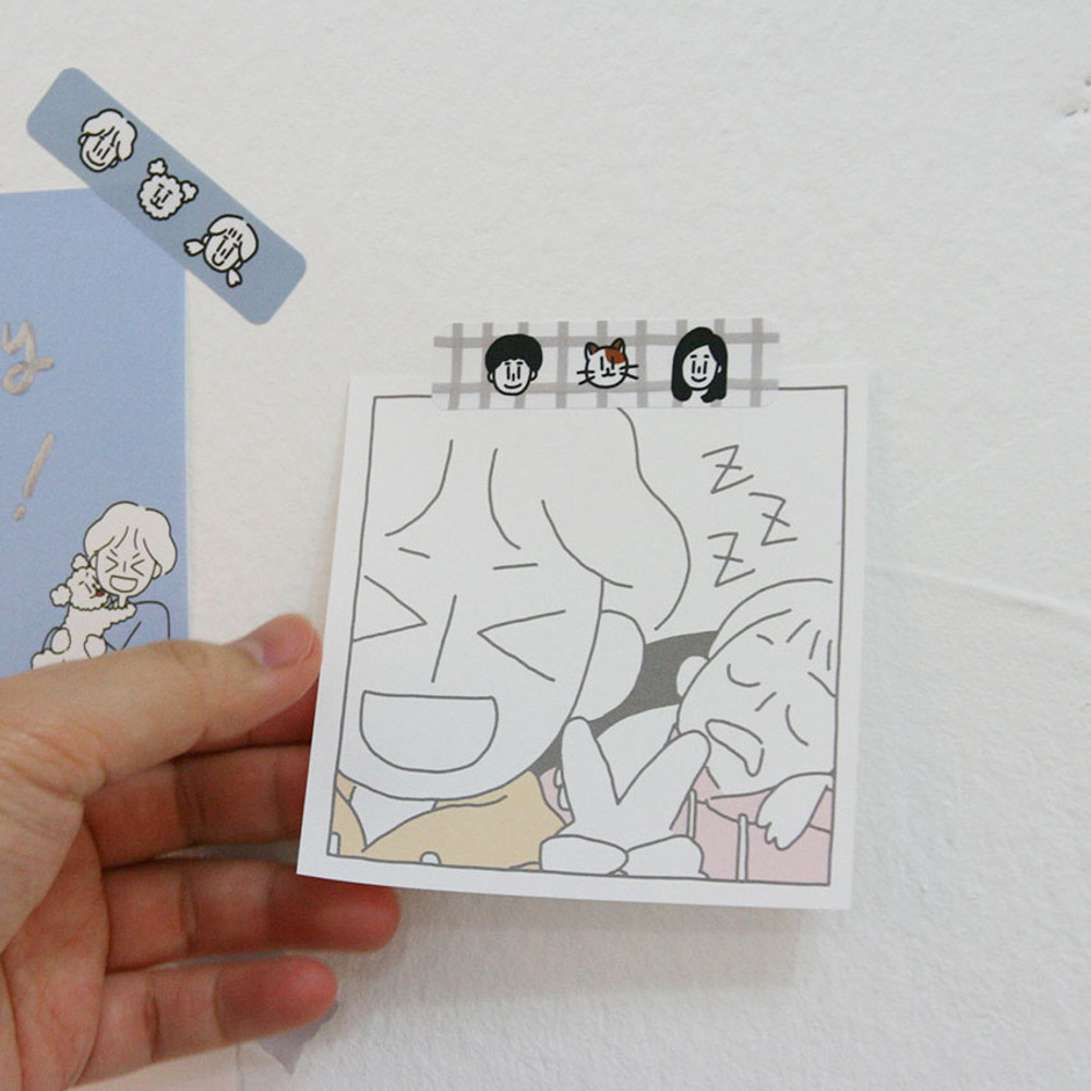 Usage example - DESIGN GOMGOM My You illustration memo notepads