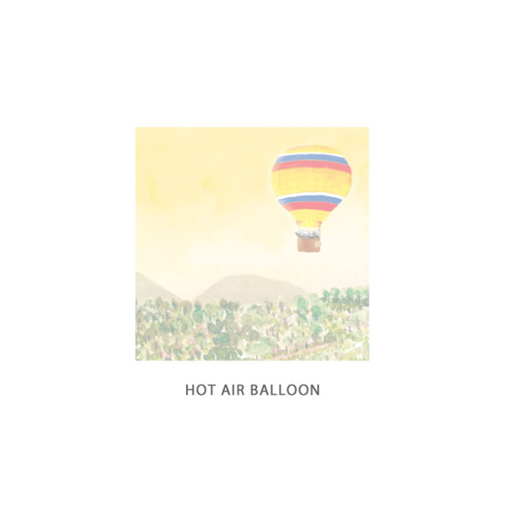 Hot air balloon - DESIGN GOMGOM Cute illustration memo notepad