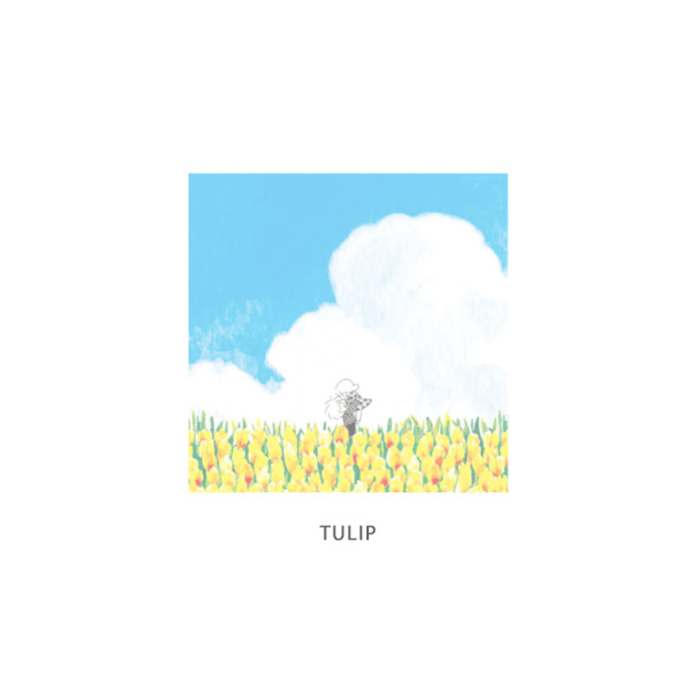Tulip - DESIGN GOMGOM Cute illustration memo notepad