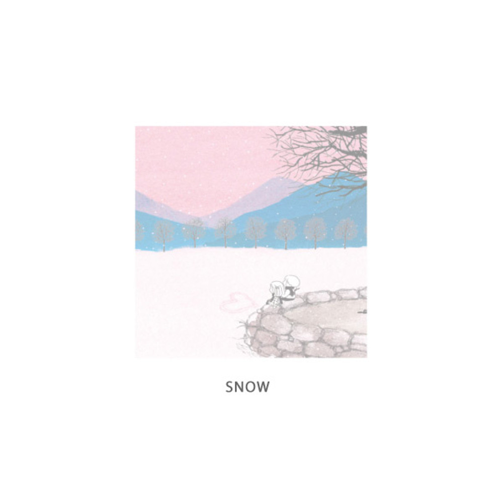 Snow - DESIGN GOMGOM Cute illustration memo notepad