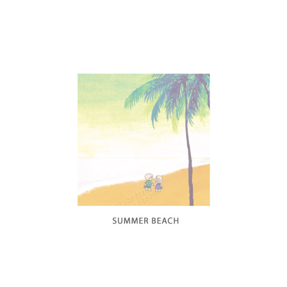 Summer beach - DESIGN GOMGOM Cute illustration memo notepad
