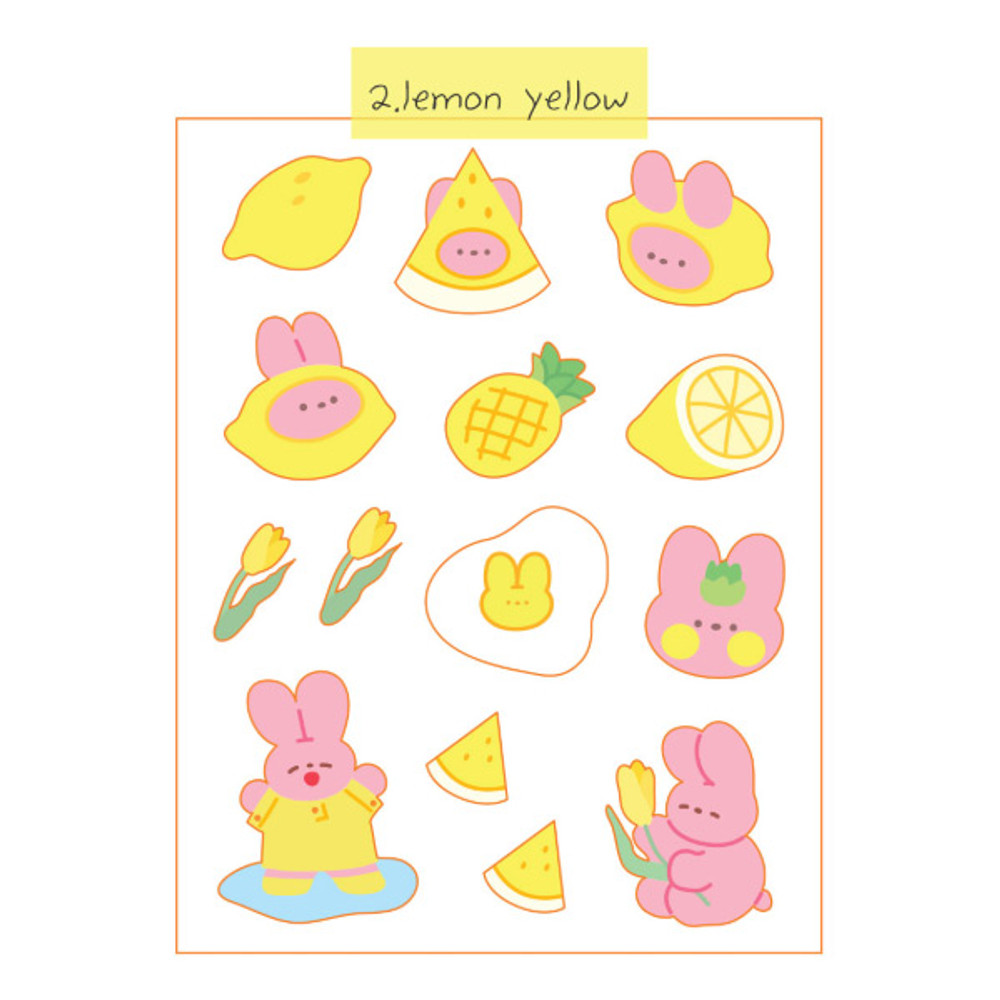 Lemon Yellow - DESIGN GOMGOM Reeli removable deco sticker