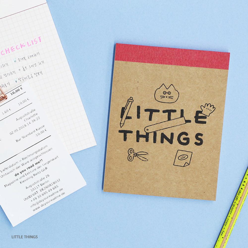 Little Things - ROMANE Donat Donat kraft grid memo notepad