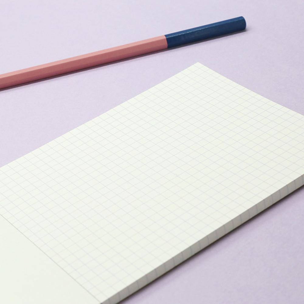 Grid notepad - ROMANE Monday muffin kraft grid memo notepad