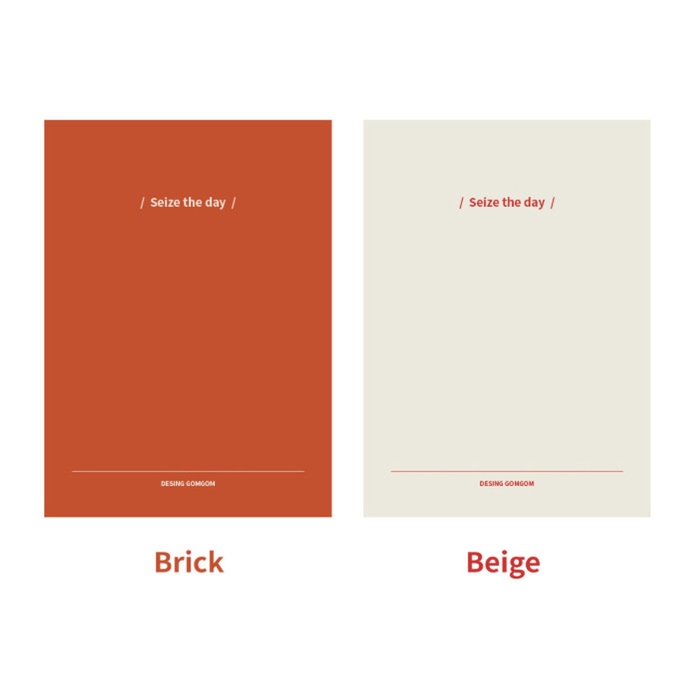 Color - DESIGN GOMGOM Seize the day dateless weekly planner