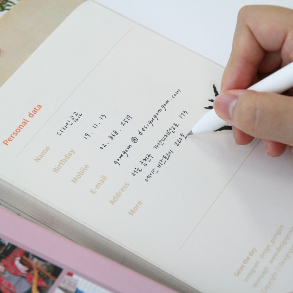 Personal data - DESIGN GOMGOM Seize the day dateless weekly planner
