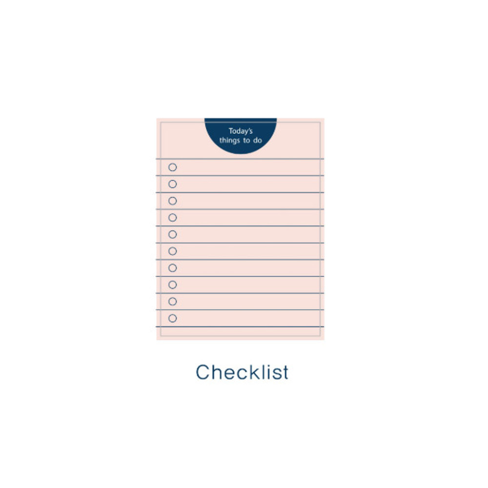 Checklist - Today's things to do small memo checklist planner notepad
