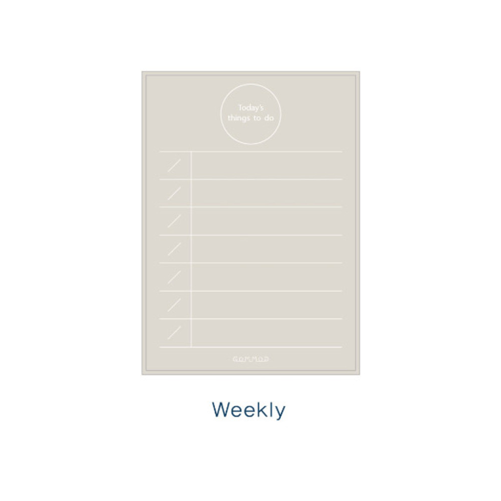 Weekly - Today's things to do large memo checklist planner notepad