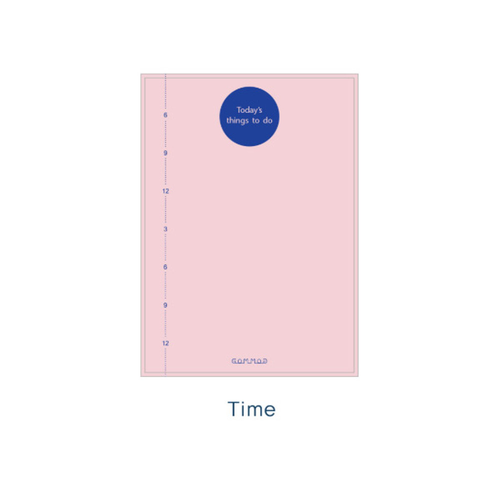 Time - Checklist - Today's things to do large memo checklist planner notepad