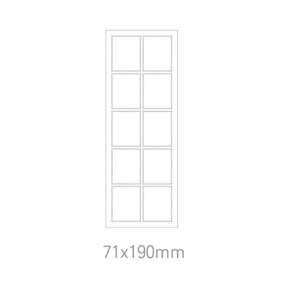Size - DESIGN GOMGOM Post stamp adhesive sticker sheet