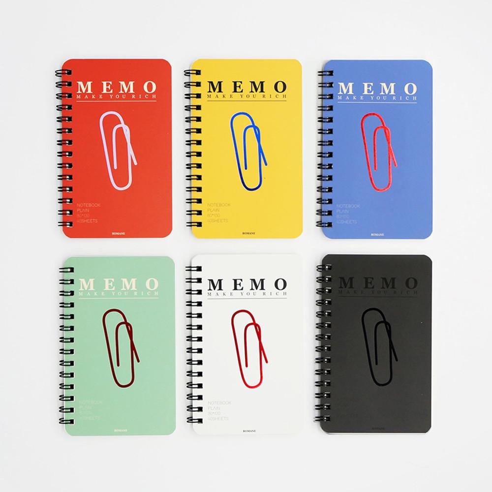 ROMANE Signature spiral bound mini blank notebook