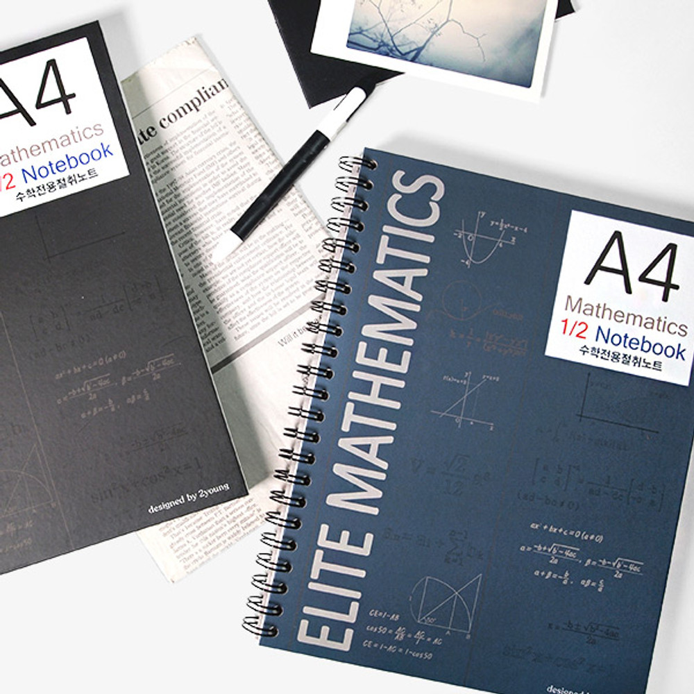 2young Elite Mathematics half perforated line blank notebook