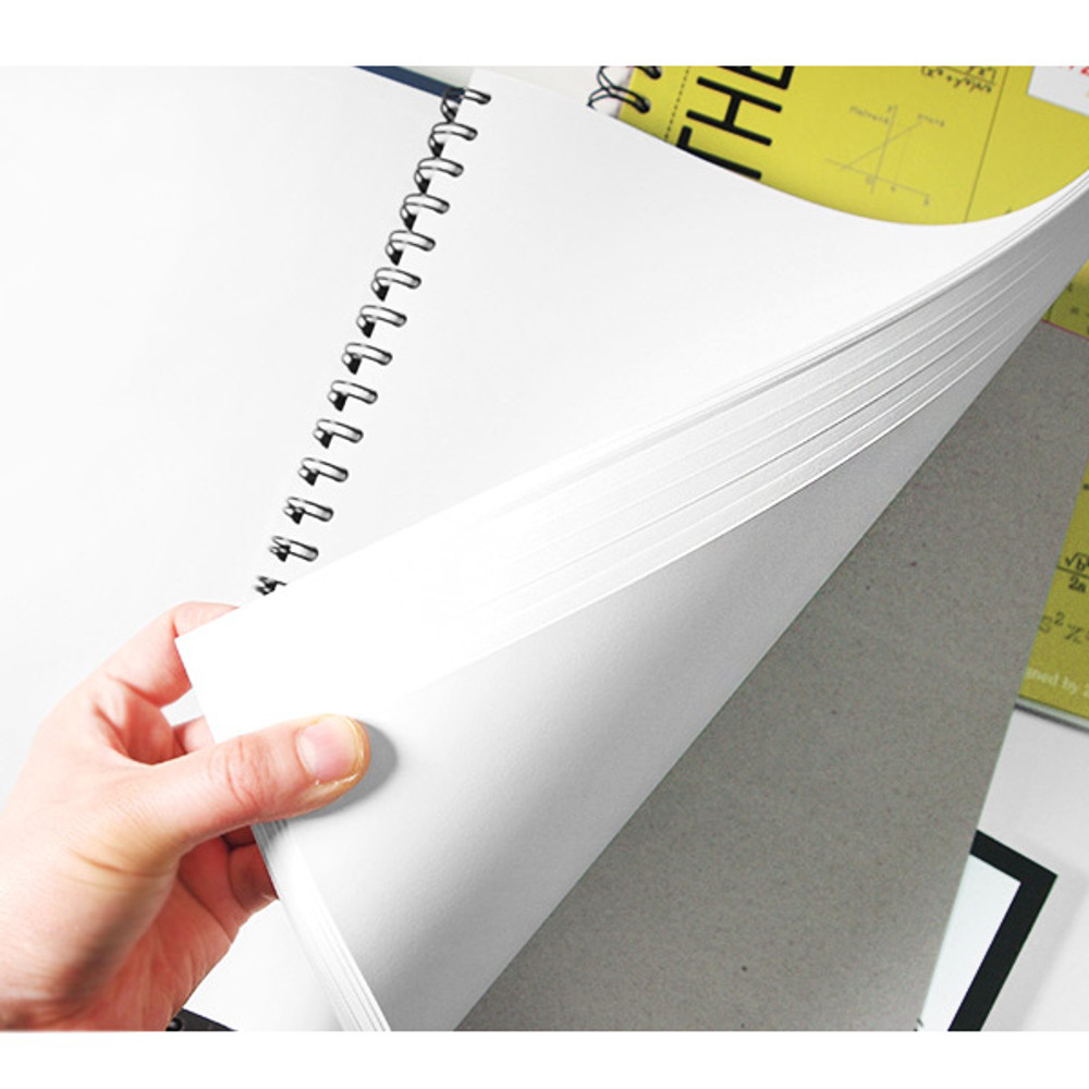 100 pages - 2young Elite Mathematics half perforated line blank notebook