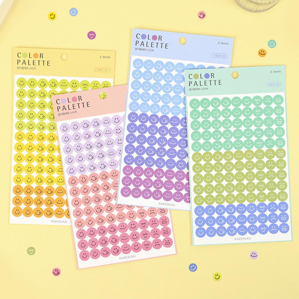 PAPERIAN Color palette face deco sticker set