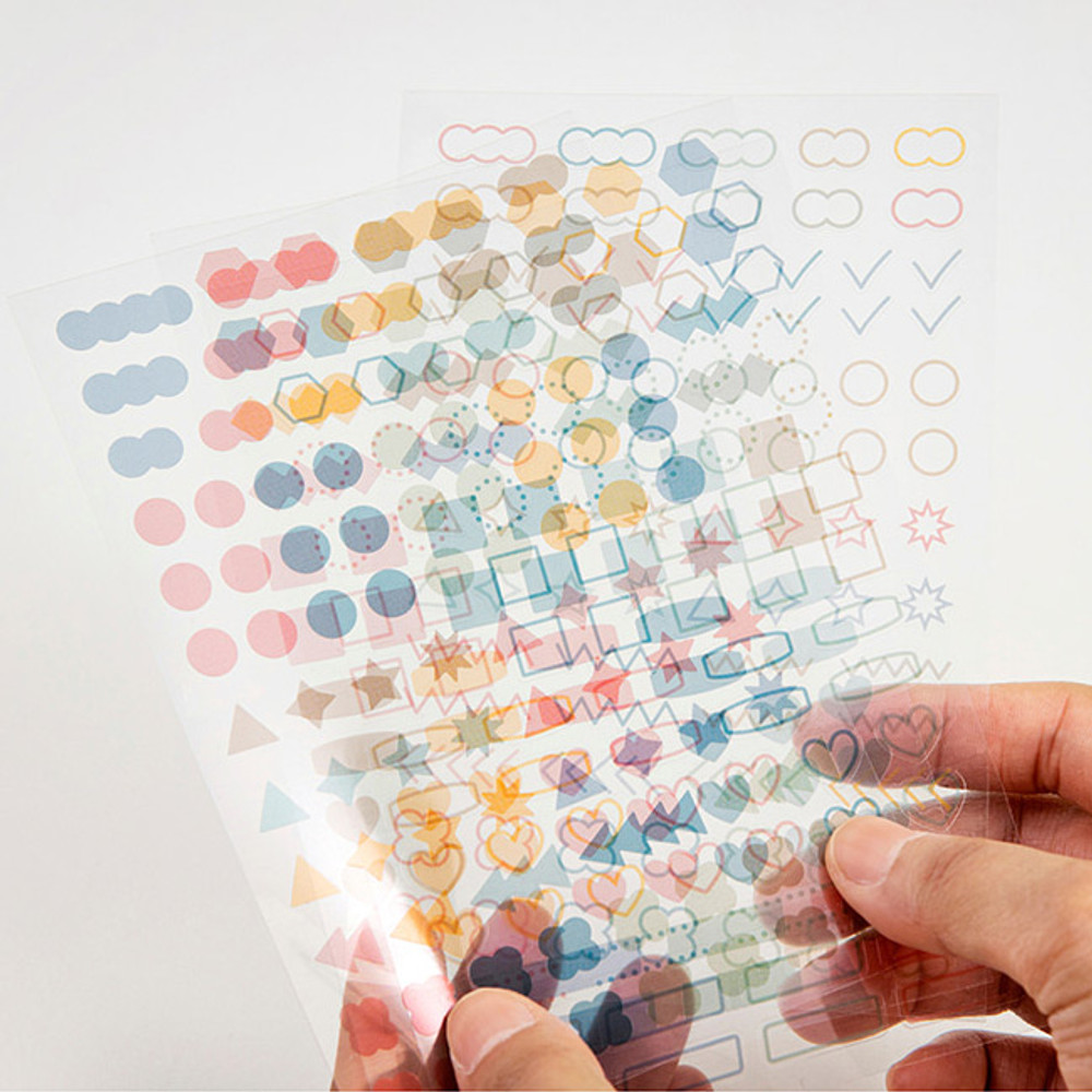 Clear sticker sheets - Ardium Color deco sticker all in one pack