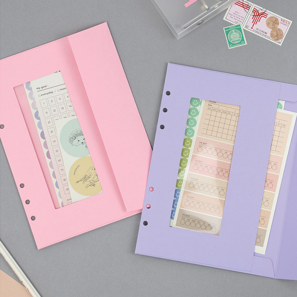Usage example - PAPERIAN Window paper envelope 6-ring A5 size refill ver2