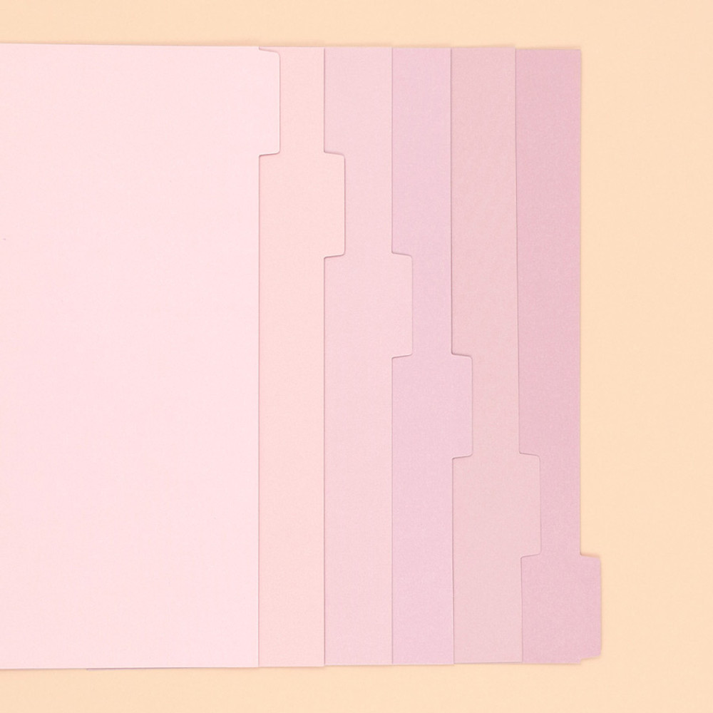 Pink - PAPERIAN Index loose-leaf binder paper 6-ring A5 size refill