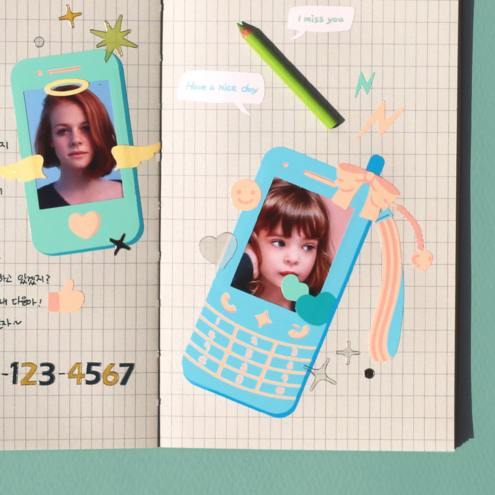 Usage example - After The Rain Photo frame decoration sticker