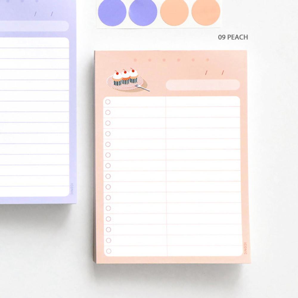 09 Peach - ICONIC Haru dateless daily vocabulary desk pad