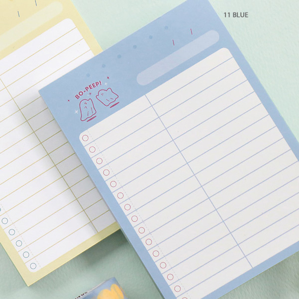 11 Blue - ICONIC Haru dateless daily vocabulary desk pad