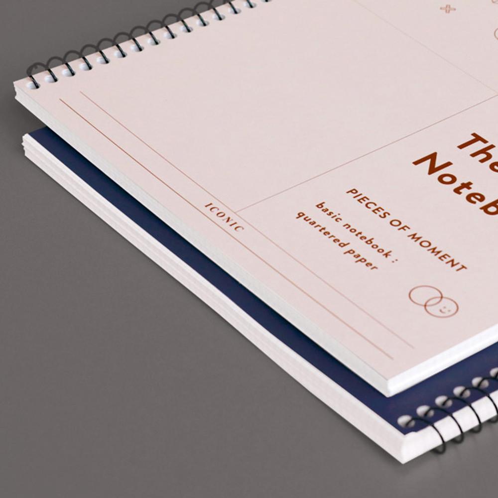 60 sheets - ICONIC Basic mathematics spiral bound grid notebook