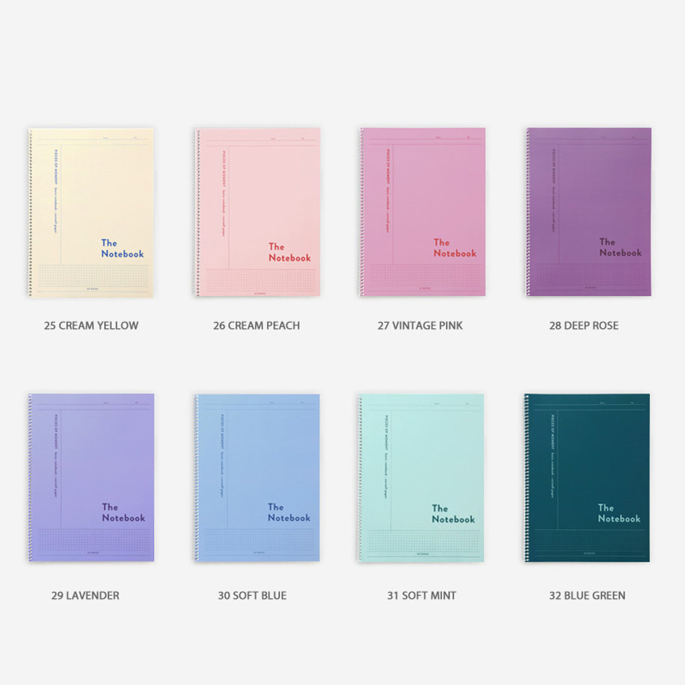 Color - ICONIC Basic Cornell spiral bound lined and grid notebook