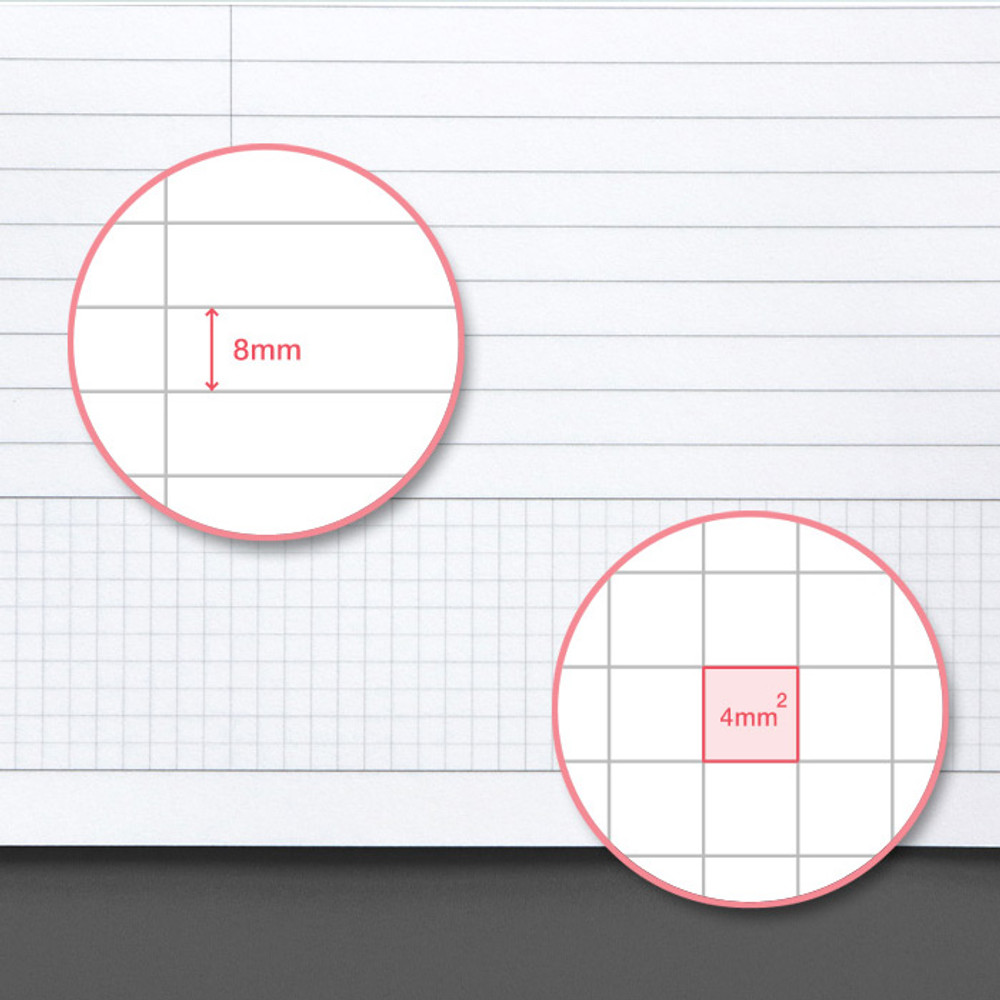 7 mm lined paper - ICONIC Basic Cornell spiral bound lined and grid notebook