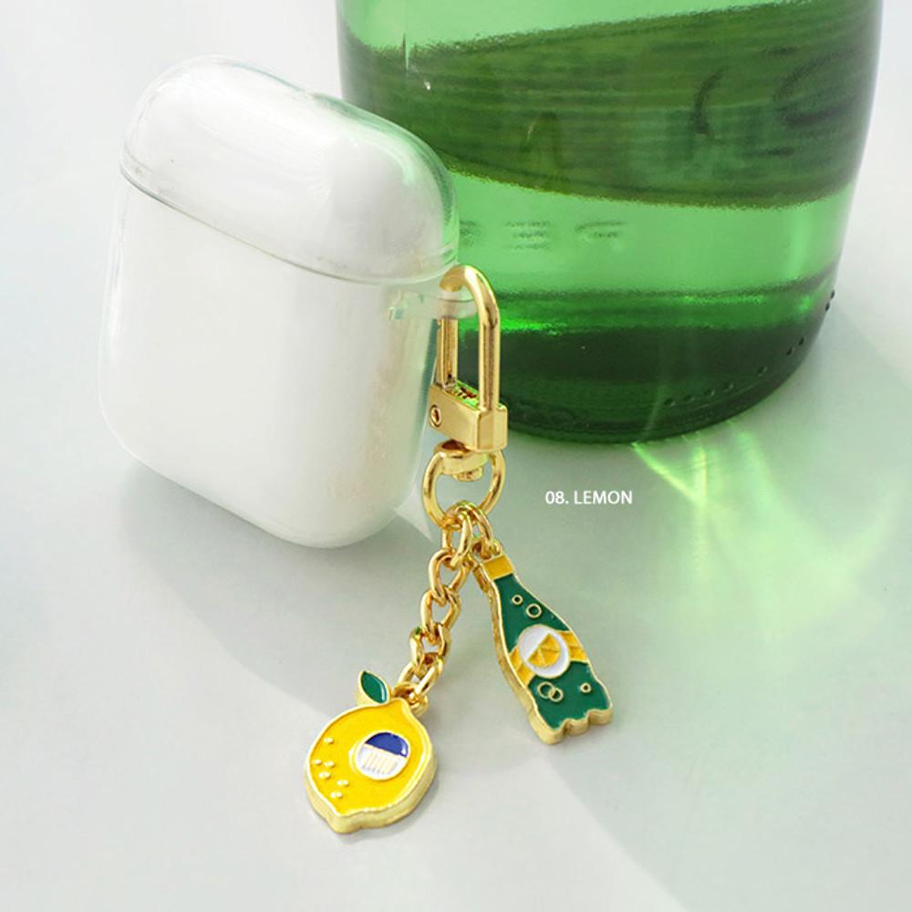 08 Lemon - ICONIC Merry metal keyring key clip key chain