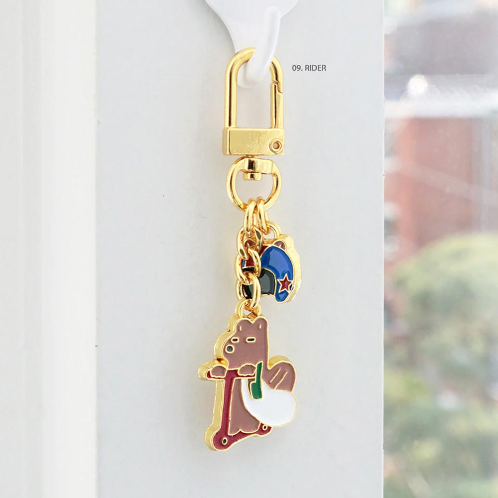 09 Rider - ICONIC Merry metal keyring key clip key chain