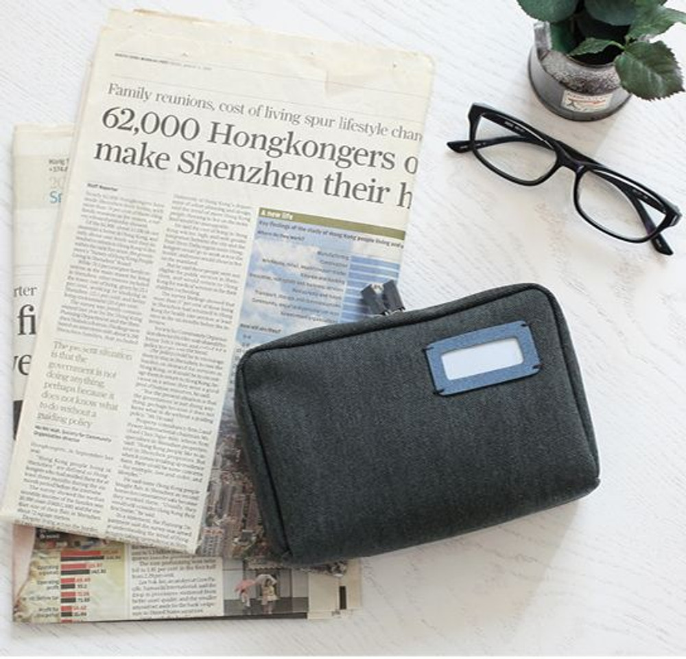 Bankbook pouch - gray