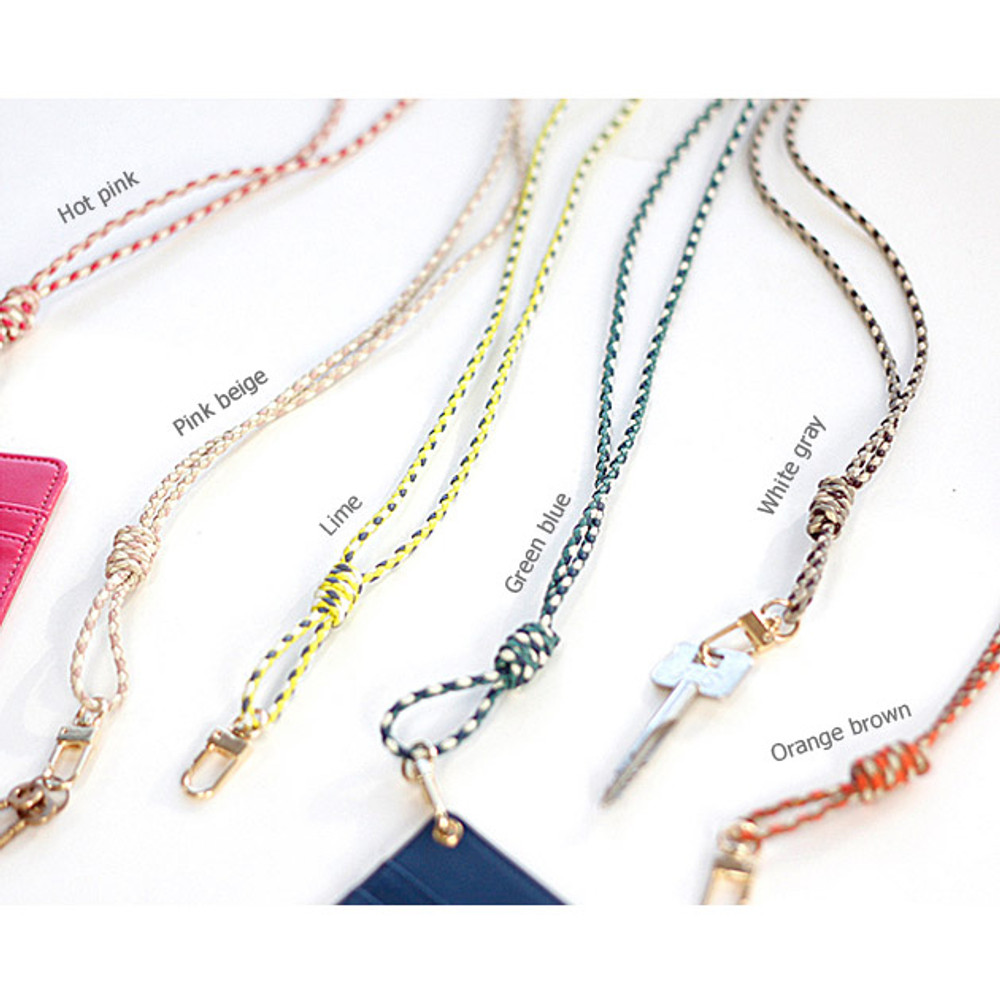 Colors of Cross neck strap