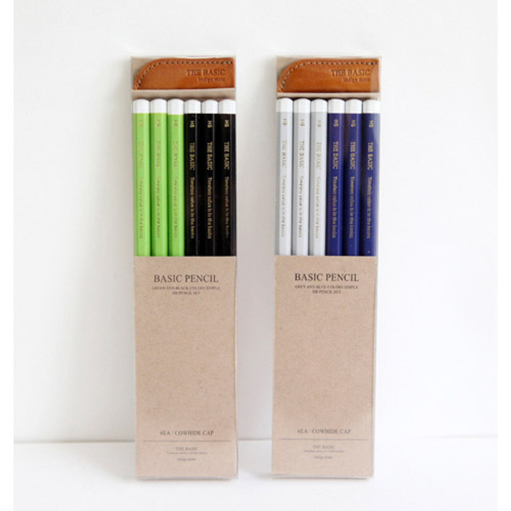 Package for The Basic pencil set with leather pencil cap