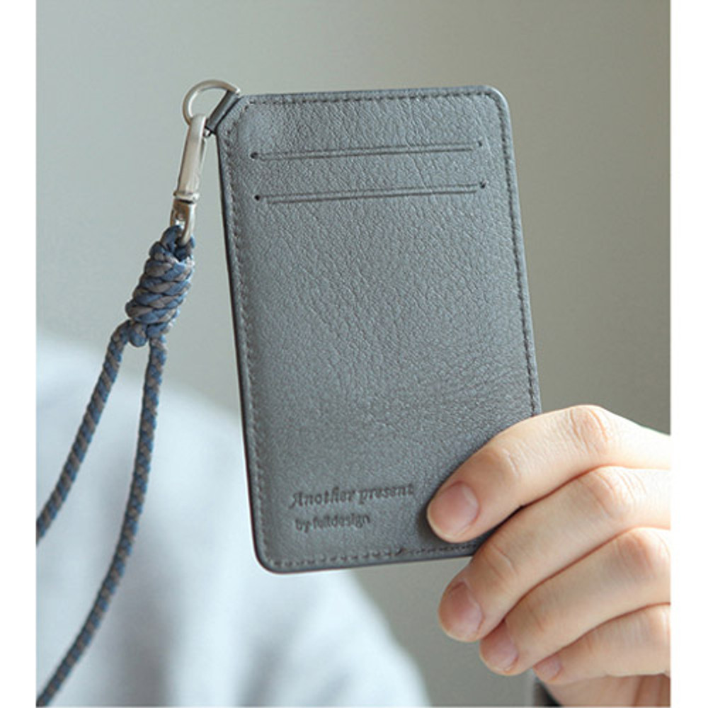 Leather card holder flat case