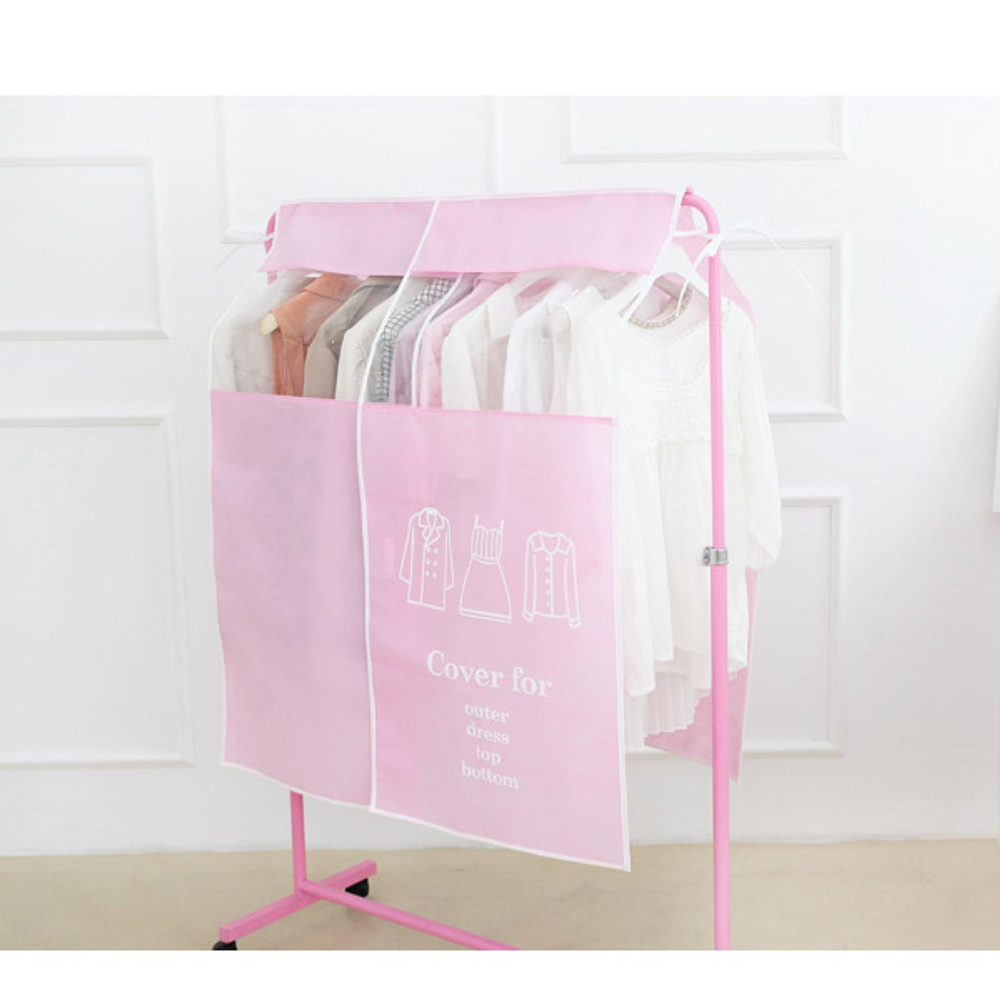Clothes Suit Garment Storage Bags dust proof cover - Pastel color