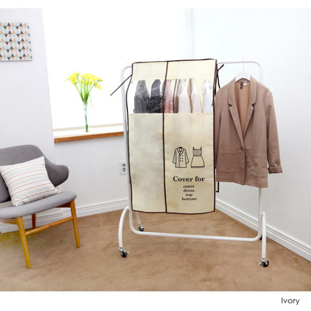 Ivory - Clothes Suit Garment Storage Bags dust proof cover