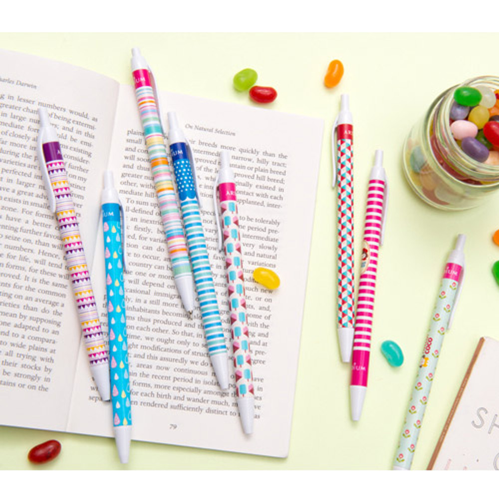 Colorful pattern ballpoint pen 0.38mm