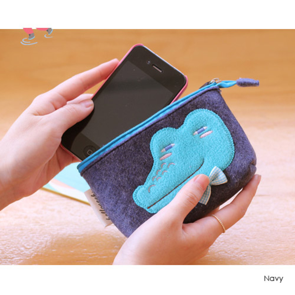 Navy - Hellogeeks cute bosong bosong small pouch